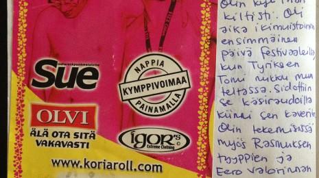 """""""Juntin näkösiä jätkiä 3/5, mutta hyvää musaa"""" eli kurkistus Miran keikkapäiväkirjaan ja muita musiikkimuistoja"""