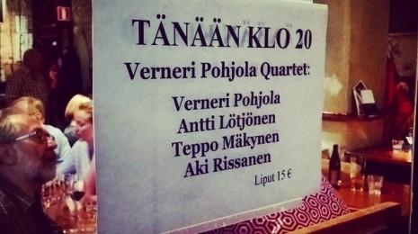 Verneri Pohjola Quartet KOM-Ravintolassa 18.8.2014