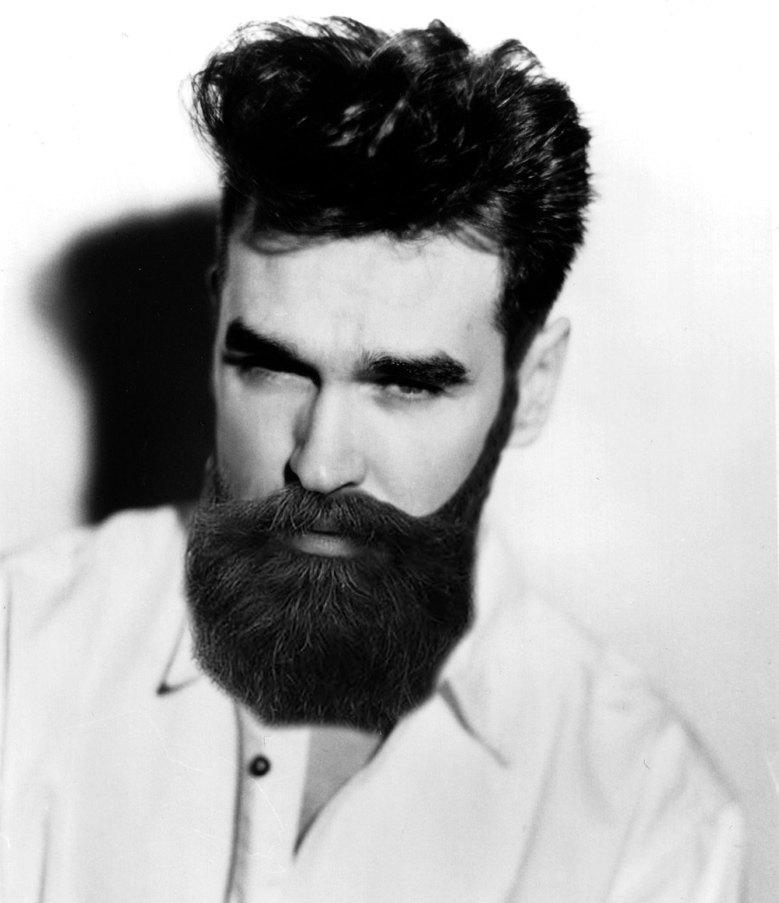 Morrissey with a beard