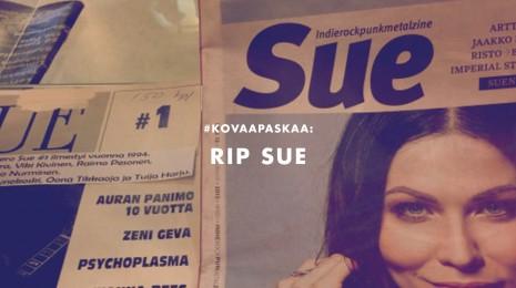 RIP: Kiitos Suomen paras musiikkilehti SUE (1994-2014)