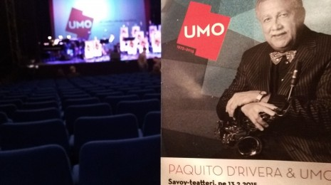 UMO & Paquito D'Rivera Savoy-teatterissa 13.2.