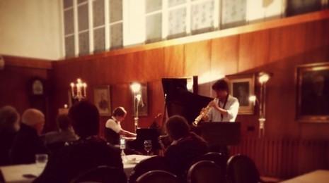 Duo Manuel Dunkel & Alexi Tuomarila jaZZanti-konsertissa Laulumiehissä