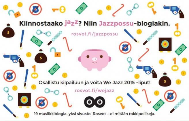 We Jazz 2015 -lehdestä löytyy mm. tämmöinen hieno mainos