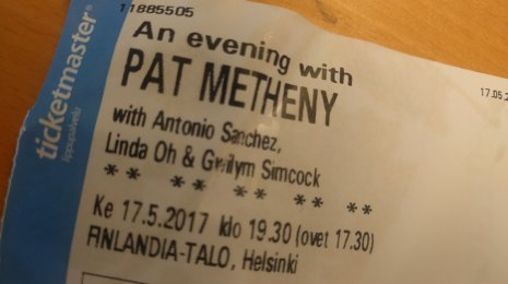 An Evening With Pat Metheny Finlandia-talolla