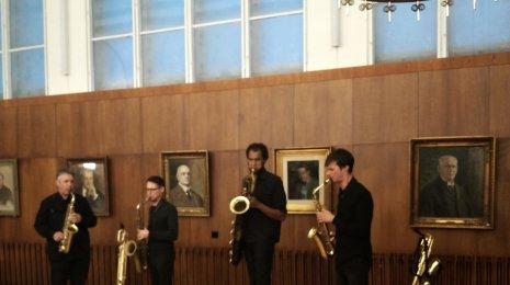 jaZZanti: Quatuor Machaut Laulumiehissä Vapaat äänet -keikalla